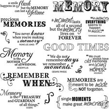 FISKARS Clear Stamps GOOD TIMES 8x8 Set 18 PIECE MEMORY