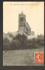 JANVILLE (28) BOVIN en PATURAGE & EGLISE Ancien Fossé de FORTIFICATIONS en 1918