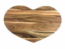 Acacia Wooden Heart Love Kitchen Chopping Board Cutting Food Preparation Tray