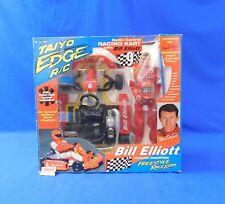 """Radio Control Racing Cart with Bill Elliot 12"""" Figure Taiyo Edge R/C in Box"""