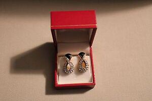 Swarovski Black and Crystal Earrings