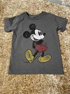 Disney Mickey Mouse Boys Shirt Heather Grey Size 4