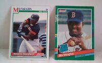Lot of 2 Mo Vaughn Baseball Rookie Cards Donruss '91 #430 Score '91 #750 Red Sox