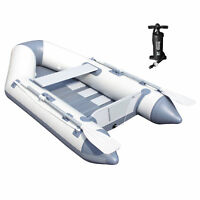 Bestway Hydro Force 91 Inch Caspian Pro Inflatable Boat Set with Oars and Pump