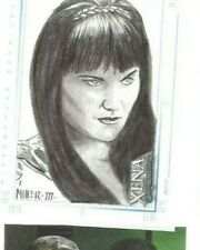 Xena sketch card by Steve Miller Rittenhouse Lucy Lawless