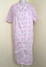 Vintage Anne Leslie Pink Floral Pearl Snaps Robe M/L See photos for measurements
