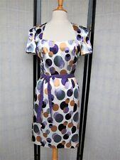 NEU APART Cocktail-Kleid G 40 Satin lila grau flieder weiß Sommerkleid Hochzeit