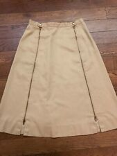 Vintage 70's Skirt With Full Length Zippers - Size 12/ 28 Waist