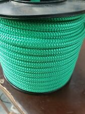 8MM Double Braided Rope Polyester Yacht Rope 40MTS Green