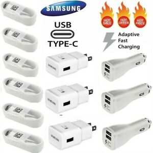 Fast Wall Car Charger Type C USB-C Cable For OEM Samsung Galaxy S10 S9 S8 Note10