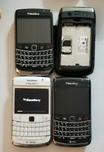 LOT OF 4 BLACKBERRY BOLD 9630  BLACK  USED WORKING PARTS ONLY AS-IS READ MORE