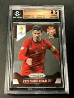 CRISTIANO RONALDO 2014 PANINI PRIZM 161 WORLD CUP HIGH-END ALL BGS 9.5 10 (2568)