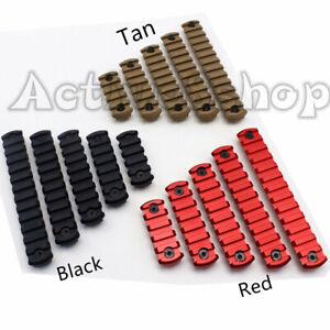 Black/Tan/Red Aluminum 5 7 9 11 13 Slots Picatinny/Weaver Rail Section Fit M-L0k