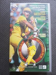 CRICKET ONE DAY WONDERS VOLUME THREE   VHS VIDEO PAL SEALED AS NEW