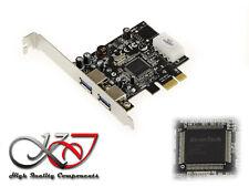 Carte Contrôleur PCIe USB 3.0 - 2 ports USB3 - Chipset EtronTech EJ168A