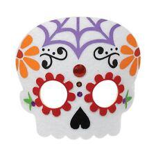 Día de los muertos Fieltro Máscara de Disfraz de Halloween accesorio Azúcar Calavera