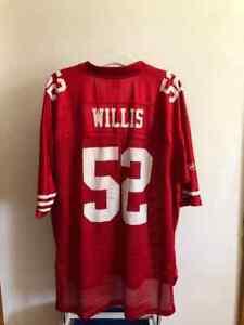 NFL San Francisco 49ers - WILLIS #52 American Football Premier Shirt Jersey (2XL