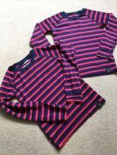 Mountain Warehouse Girls Merino Wool Base Layers Age 7/8 & 9 Striped