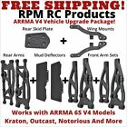 *NEW* RPM UPGRADE PACKAGE FOR ARRMA 6S V4 Outcast Kraton Notorious (BLACK)