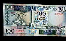 ★★ SOMALIE ● RADAR VARIETE ● BILLET DE 100 SHILLINGS 1989 ● SUP+ ★★