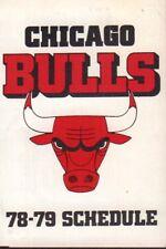 1978-79 Chicago Bulls Basketball Schedule 101917jh
