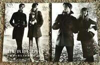 2008 Vogue Magazine Art Advert Ad Picture Burberry Rosie Huntington-Whiteley x 2