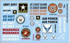Gofer Racing 1/24-1/25 Armed Services Military Logos decals 11031 x