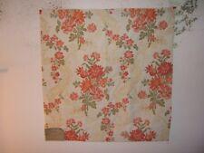 "Highland Court ""Floral Dream"" embroidered floral remnant for craft color mango"