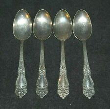 Vintage Lot Four of Reed & Barton  Dinner Spoons Monogrammed  - Tiger Lily