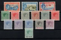 P126934/ BRITISH BAHAMAS – 1938 / 1946 GEORGE VI MINT LOT – CV 245 $