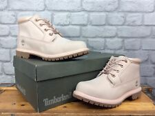TIMBERLAND LADIES UK 6 EU 39 NELLIE CHUKKA DOUBLE PALE PINK LEATHER BOOTS £125