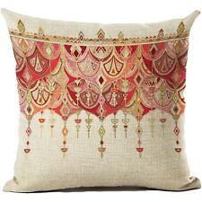Colorful Cotton Linen Square Pillowcase Sofa Cushion Pillow Cover Home Decor