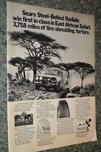 ★★1972 FORD ESCORT EAST AFRICAN SAFARI SEARS ORIGINAL ADVERTISEMENT AD 72 RS1600