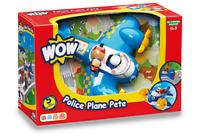 WOW TOYS Police Plane Pete Toy, 1yr+