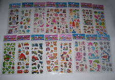5 Sheets * 3D Effect Cartoon Figure/Animal/Fruit/Car/Sign Sticker Embellishment