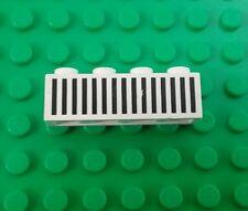 Lego Classic White 1x4 Tall Black Stripe Panel Space Brick x 1 piece