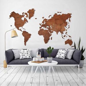 Wooden World Map World Map Wall Art Push Pin Travel Map Wood World Map XL Size