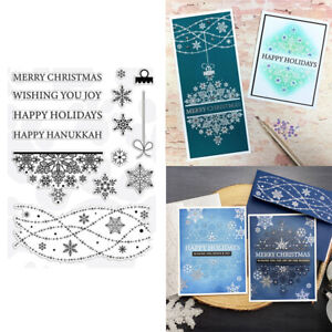 Snowflake Clear Stamps for Diy Scrapbooking Handmade Cards Crafts