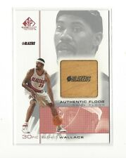2000-01 SP GAME FLOOR AUTHENTIC RASHEED WALLACE GAME-USED FLOOR #RW2 BLAZERS