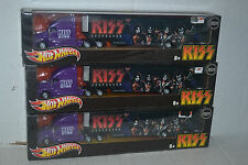 3 KISS DESTROYER Hot Whelels World Tour Semi Tractor Trailer