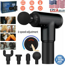 6 Speed LCD Massage Gun Deep Tissue Percussion Massager Muscle Vibrating Relax
