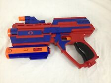 2005 Hasbro GI Joe Red Blue Blaster Gun Toy with Lights & Sounds and Demo