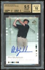 2002 SP Authentic Golf Phil Mickelson ROOKIE AUTO /799 BGS 9.5 10 GEM MINT RC
