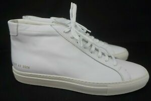 Common Projects Original Achilles High Top Mid White Leather Sneaker Size 43 /10