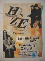 HAZE - A6 FLYER - AUGUST 19, 2017 - O2 ACADEMY OXFORD