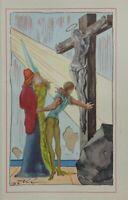 Salvador DALI :  La lumière du Christ - Rare estampe signée, 1948