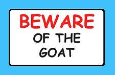 Cuidado de la granja de cabras Pet ganado Pegatina Signo De Vinilo Impermeable B40