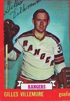 Gilles Villemure 1973 OPC Autograph #119 Rangers