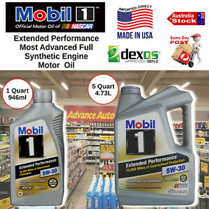 1L (946ml) MOBIL 1 5W-30 FULL SYNTHETIC ENGINE OIL DEXOS EXTENDED PERFORMANCE