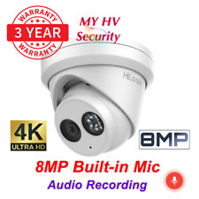 Hikvision Hilook IPC-T280H-MU 8MP 4K Built in Microphone Audio Turret IP Camera